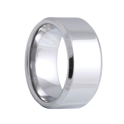 Beveled 10mm Wide Tungsten Band