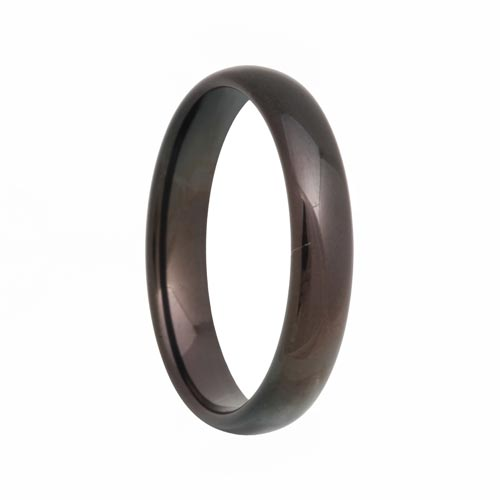 Dome Black 4mm Comfort Fit Tungsten Carbide Ring
