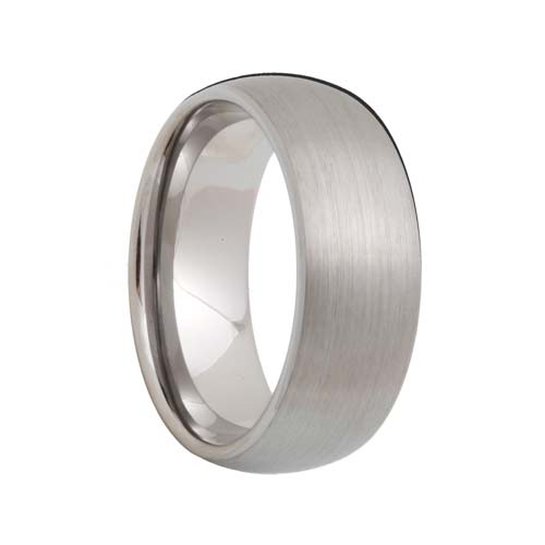 Satin Rounded Tungsten Carbide Band (4mm - 8mm)