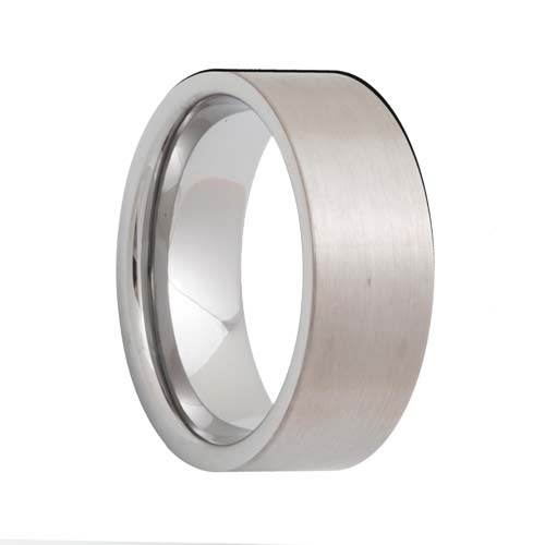 Pipe Cut Satin Tungsten Carbide Band (4mm - 8mm)