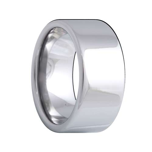 Pipe Cut 10mm Wide Comfort Fit Tungsten Band