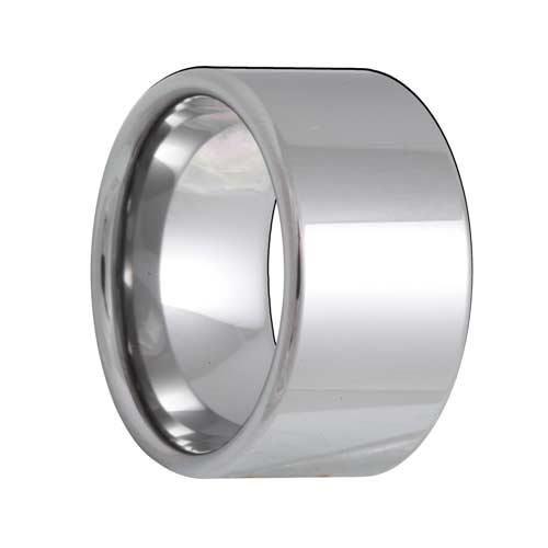 Pipe Cut 12mm Extra Wide Tungsten Carbide Ring