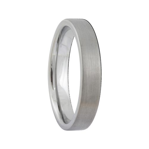 Pipe Cut 4mm Satin Tungsten Jewelry Carbide Ring