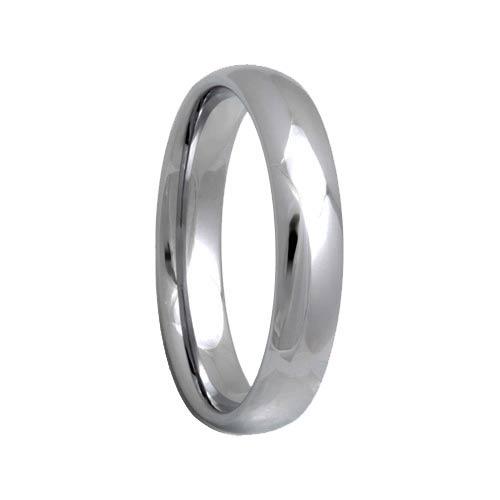 Round 4mm Tungsten Carbide Wedding Band For Women