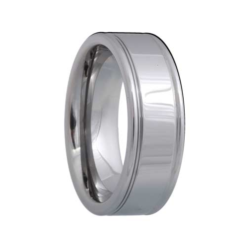 Polished Grooved Tungsten Carbide Ring