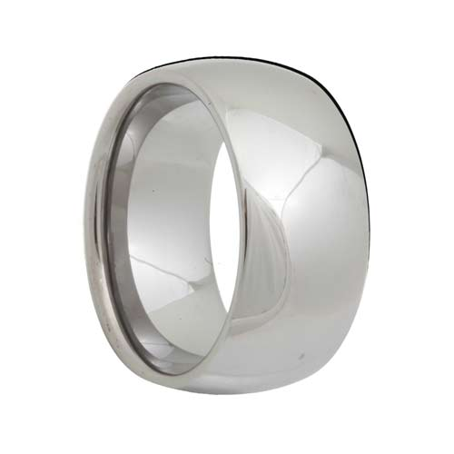 High Polished Shine Dome 10mm Wide Tungsten Band