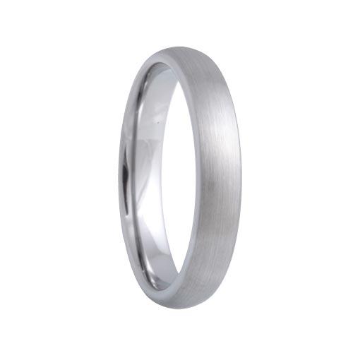 Satin Dome Unique Comfort Fit Tungsten Ring