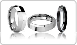 Beveled Tungsten Bands