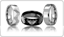 Faceted Tungsten Bands