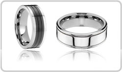 Grooved Tungsten Bands