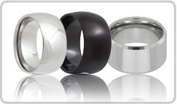 Extra Wide Tungsten Rings