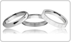 White Tungsten Wedding Bands